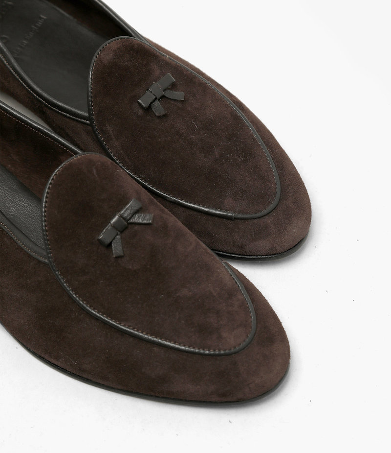 Needles Slip on with Bow - Brown