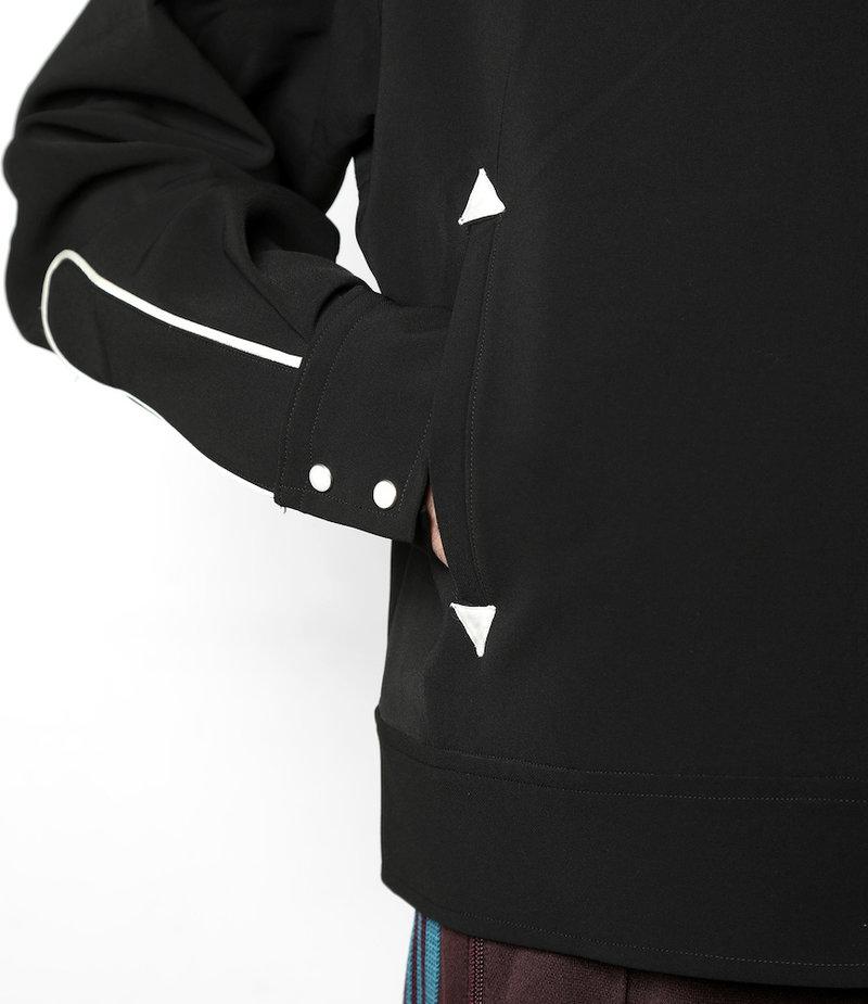 Needles Papillon Emb. Piping Cowboy Shirt - Pe/Pu Double Cloth - Black
