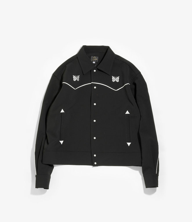 Needles Papillon Emb. Piping Cowboy Shirt - Pe/Pu Double Cloth - Black