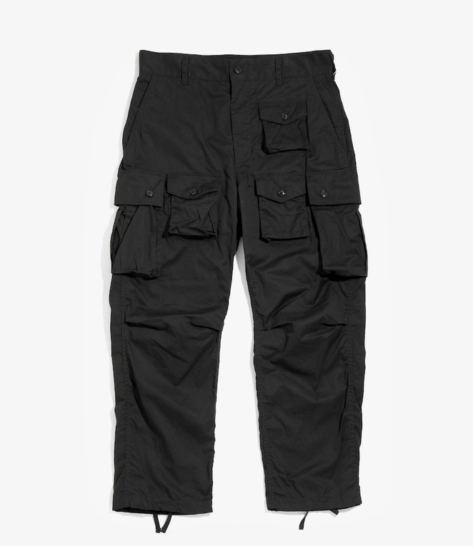 Engineered Garments FA Pant - Black High Count Twill