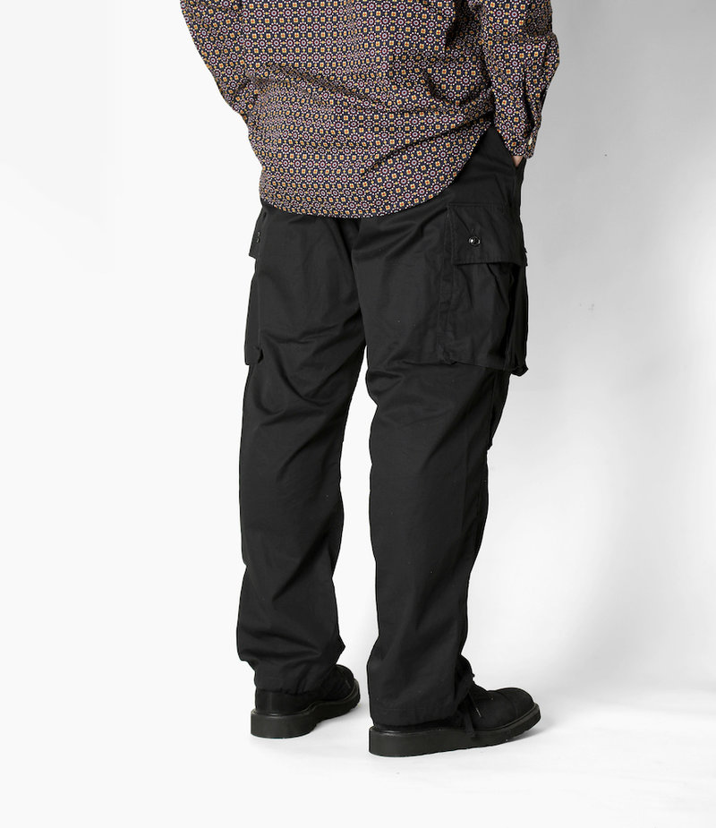 Engineered Garments FA Pant - Black High Count Twill