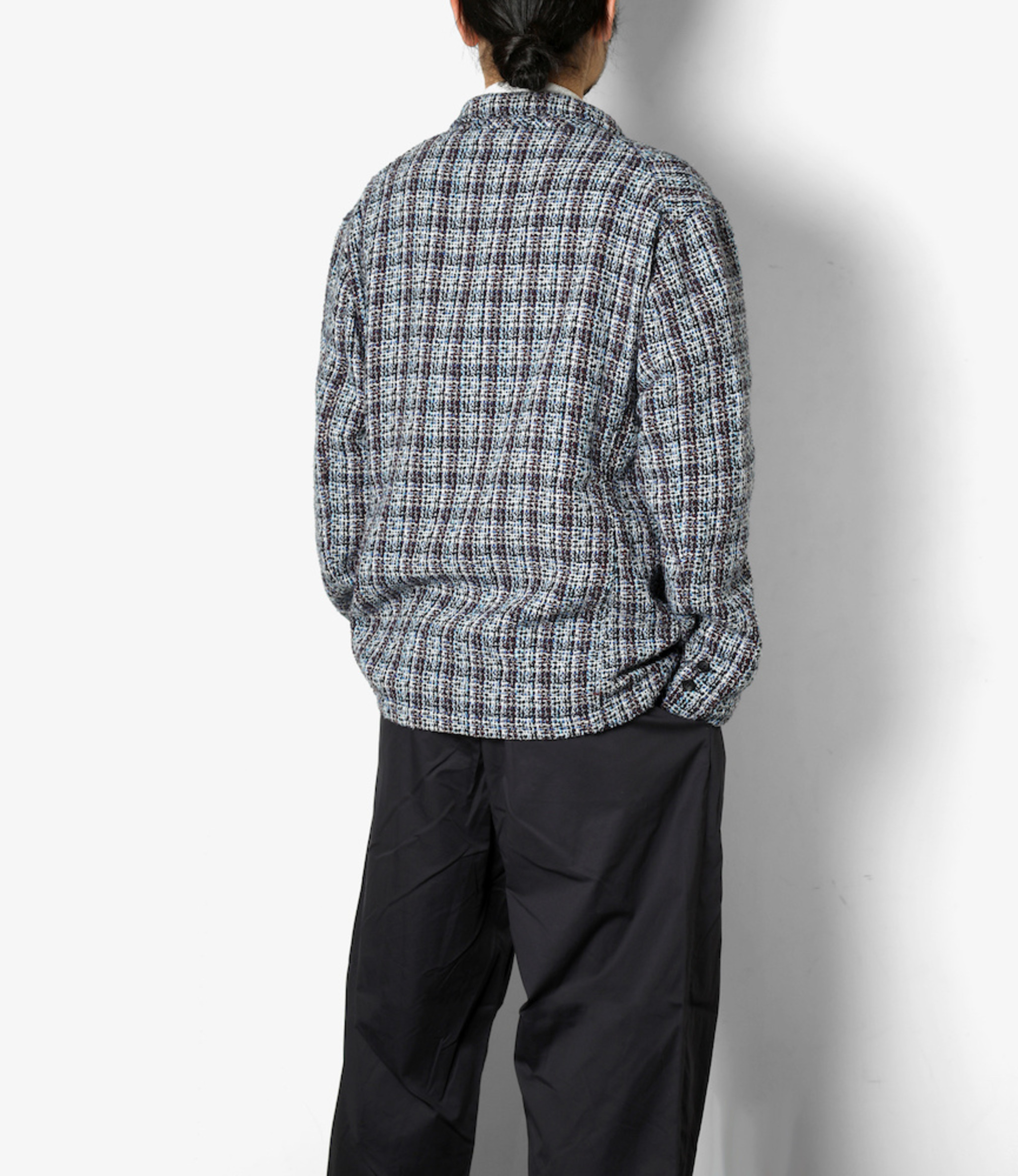 Engineered Garments NB Jacket - Blue Cotton Poly Tweed