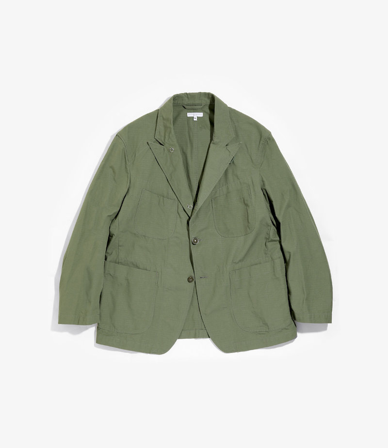 Engineered Garments Bedford Jacket - Olive Cotton Ripstop