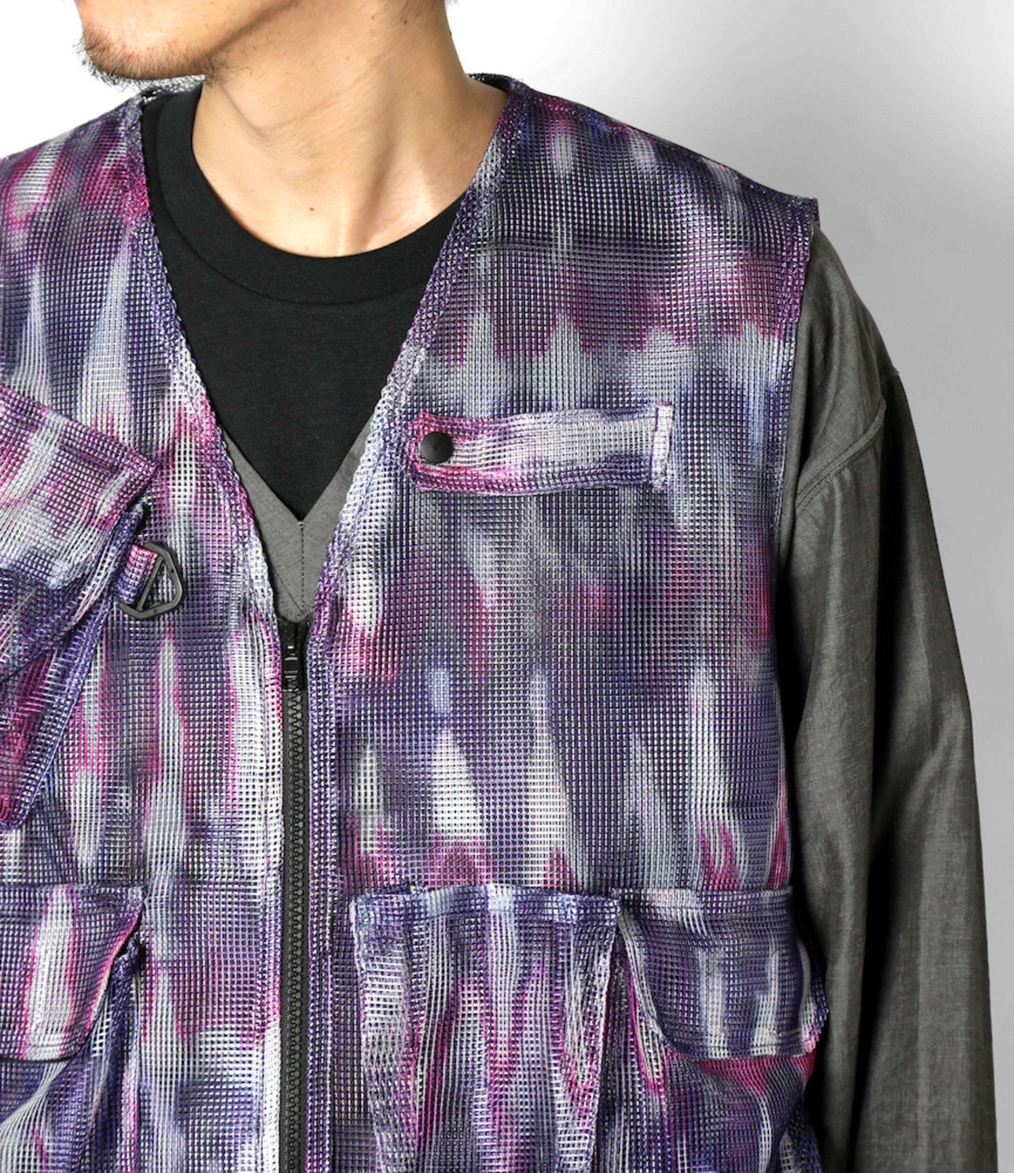 South2 West8 Mesh Bush Vest - Poly Heavyweight Mesh / Print - Tie Dye