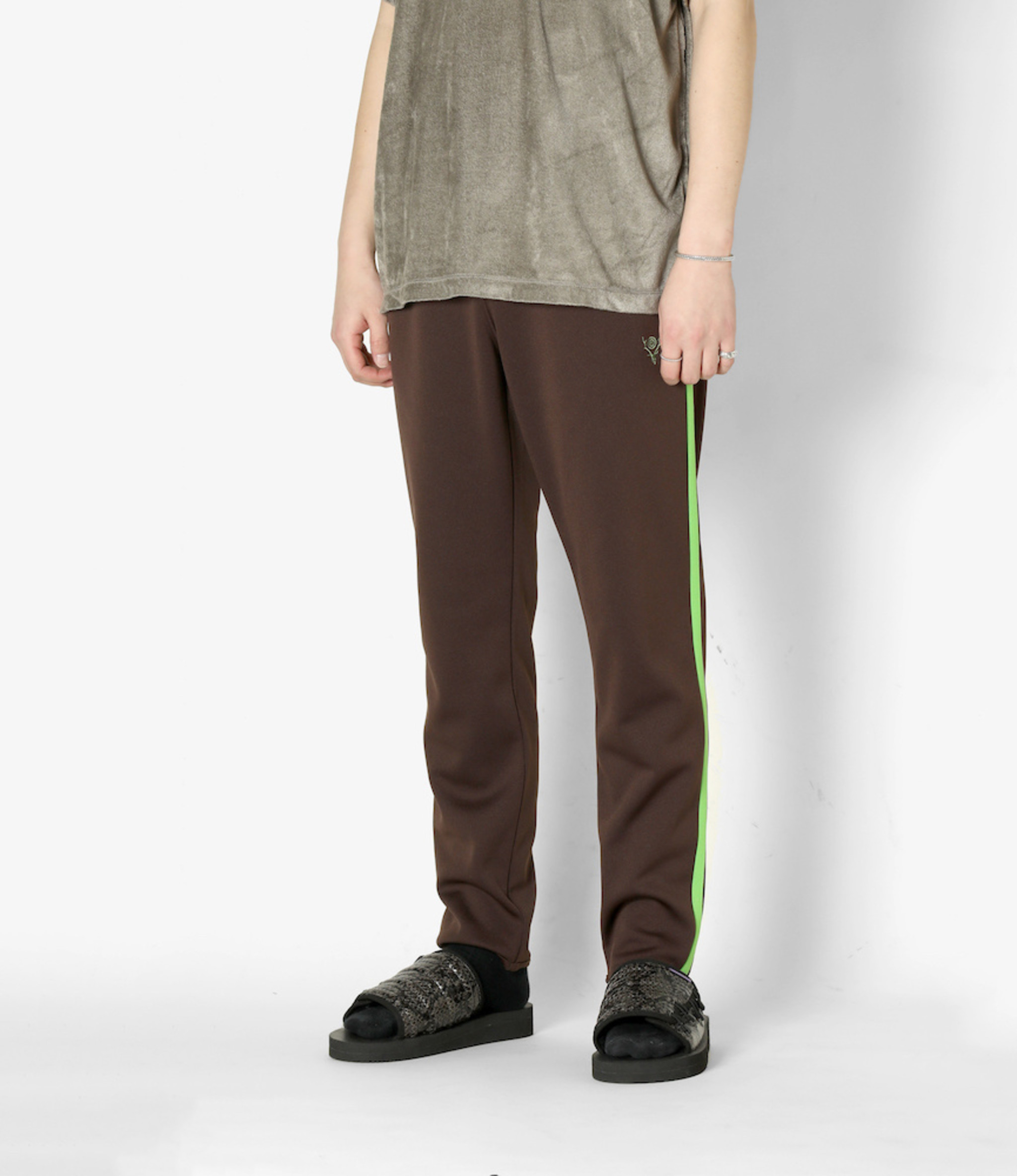 South2 West8 Trainer Pant - Poly Smooth - Dk.Brown