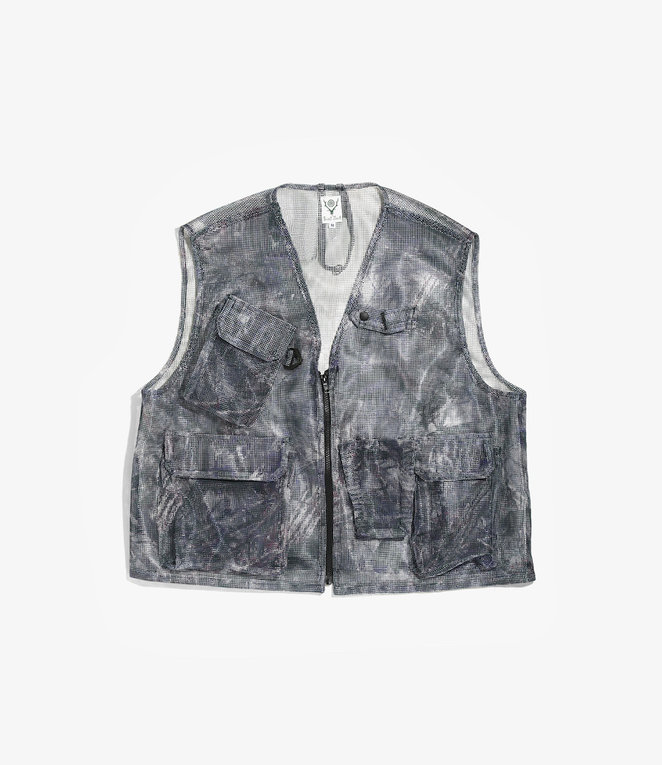 South2 West8 Mesh Bush Vest - Poly Heavyweight Mesh / Print - S2W8 Camo