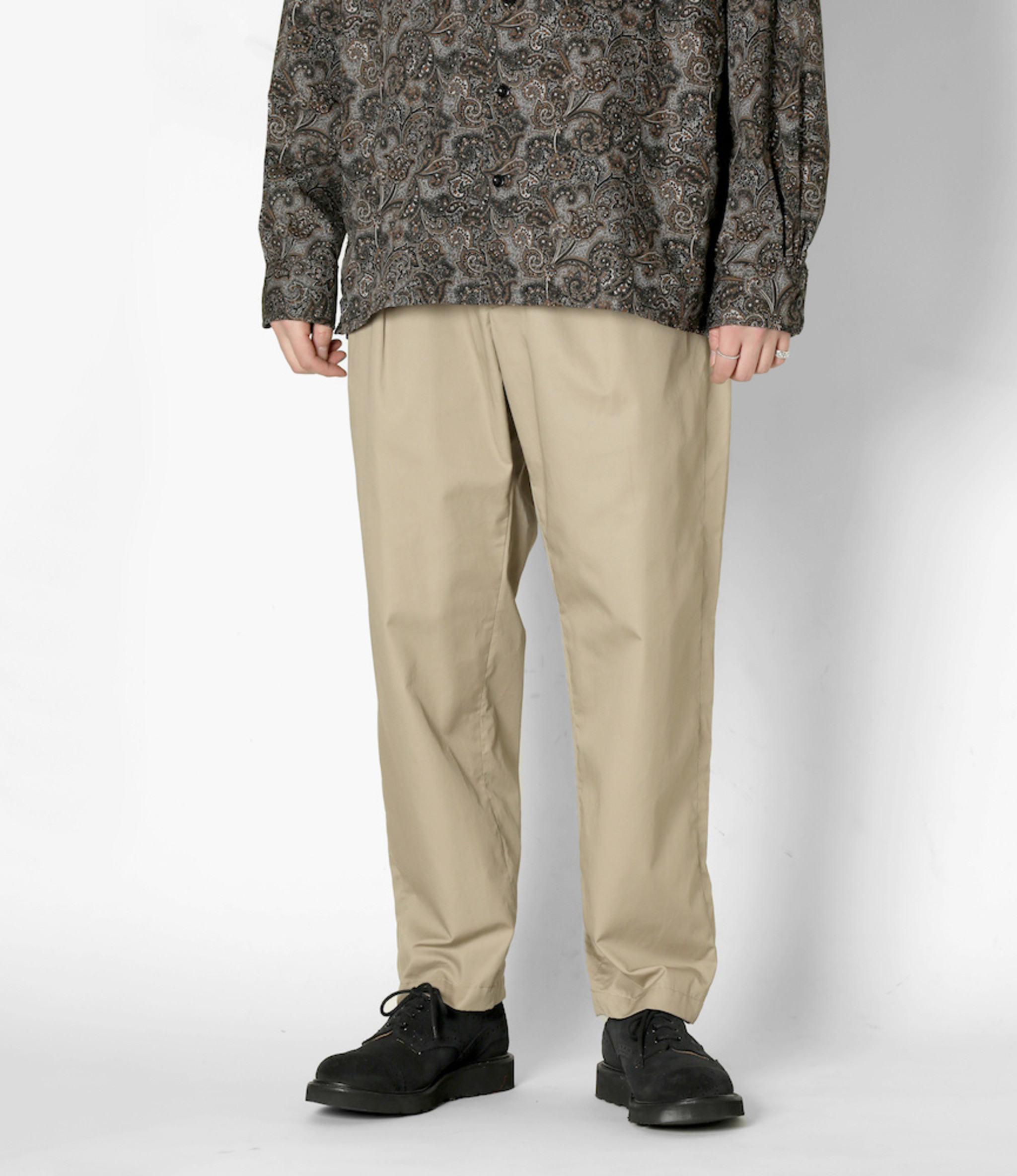Engineered Garments Carlyle Pant - Khaki High Count Twill