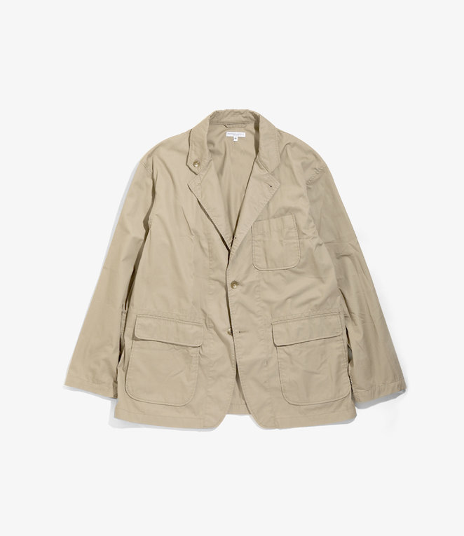 Engineered Garments Loiter Jacket - Khaki High Count Twill