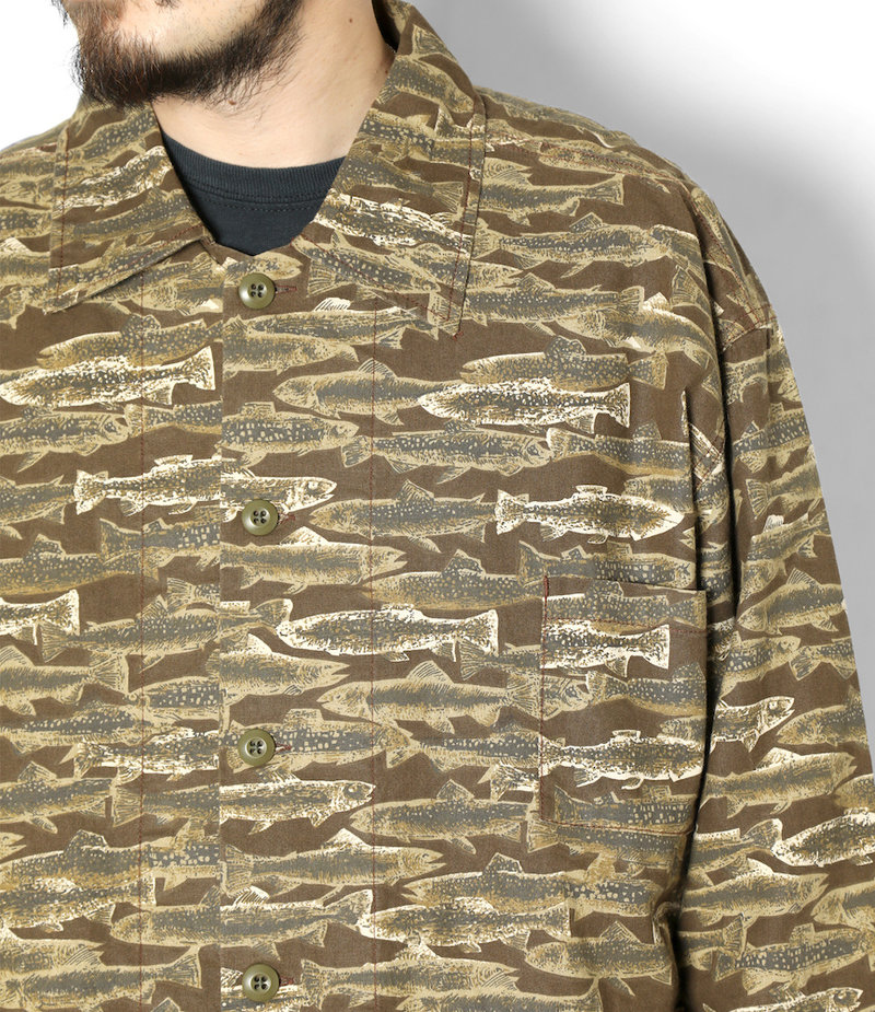 South2 West8 Hunting Shirt - Printed Flannel / Camouflage  - Trout