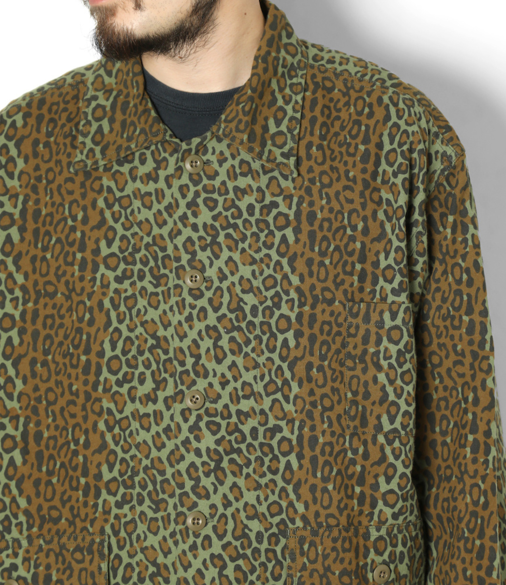 South2 West8 Hunting Shirt - Printed Flannel / Camouflage  - Leopard