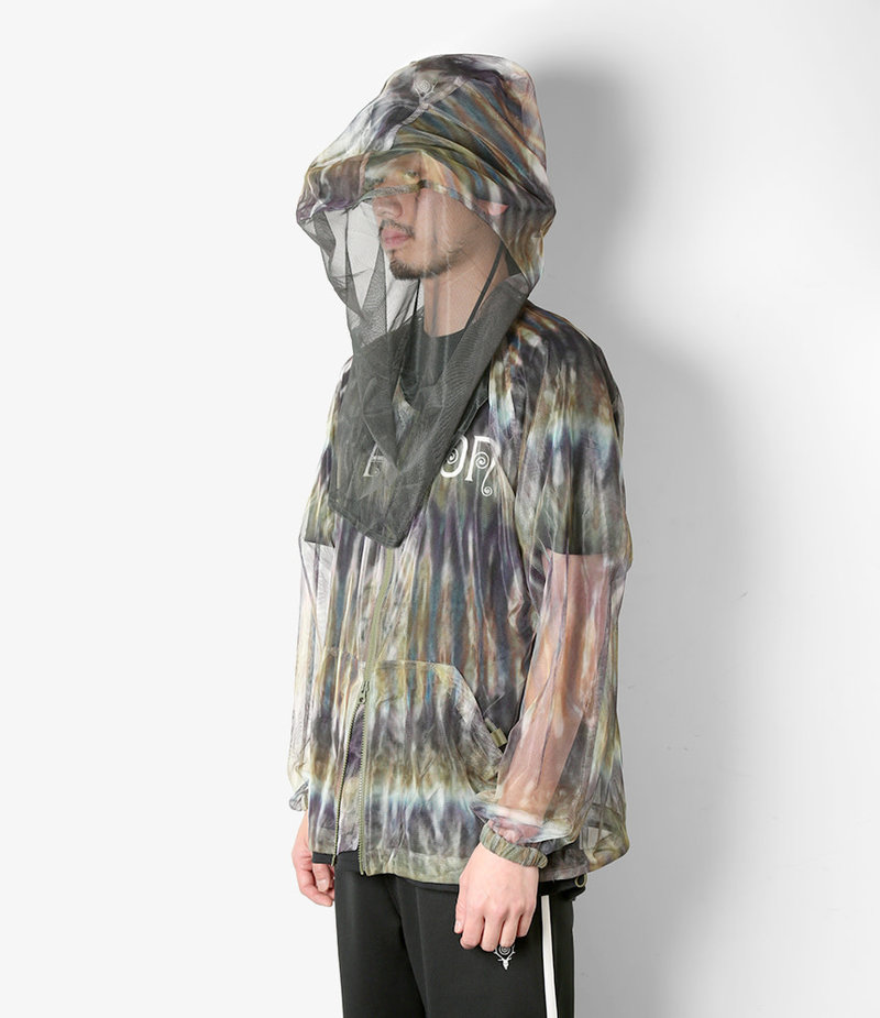 South2 West8 Bush Parka - Poly Lightweight Mesh / Print - SS19 Tie Dye