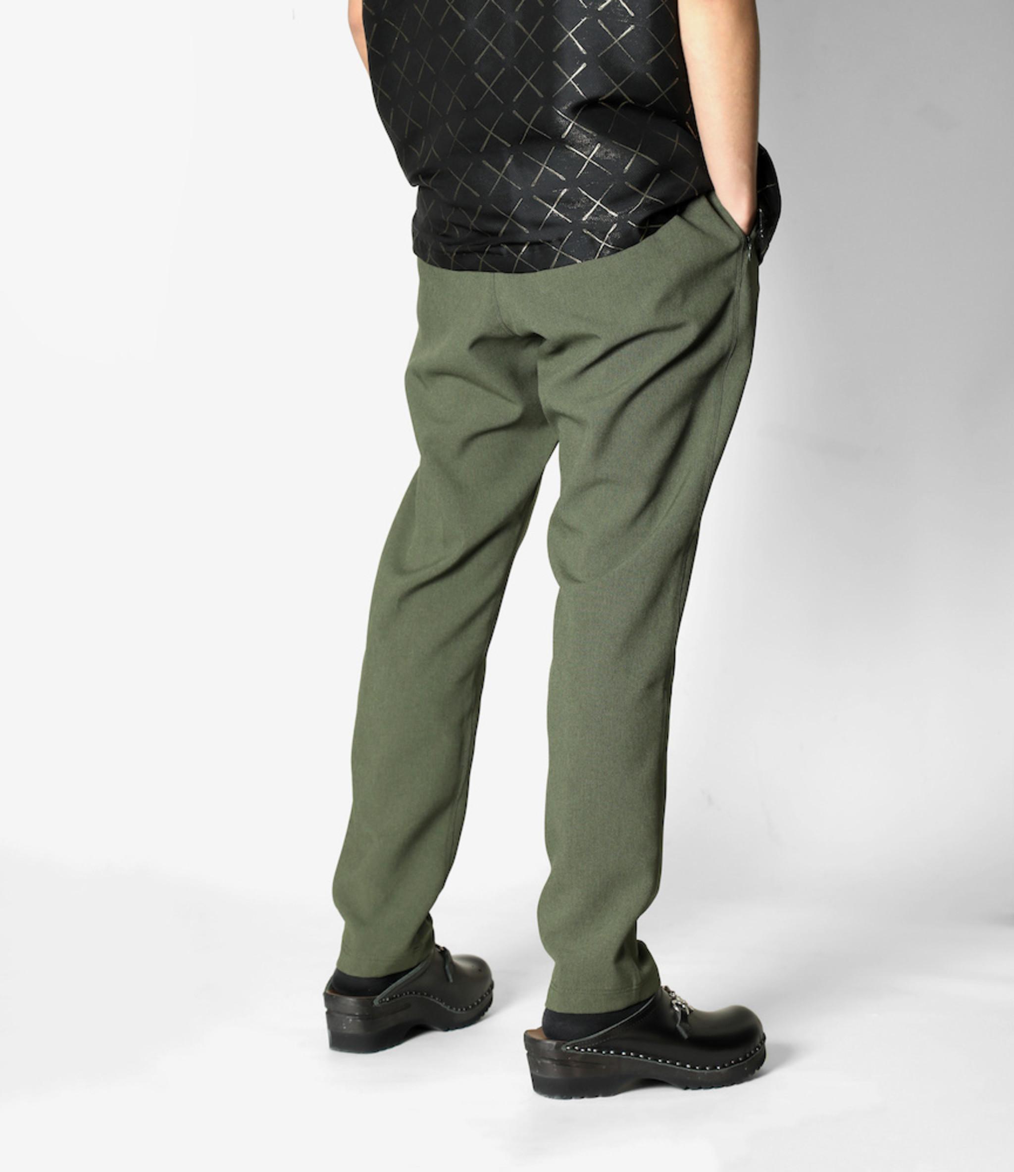 Needles Warm-Up Pant - Poly Poplin Cloth - Green