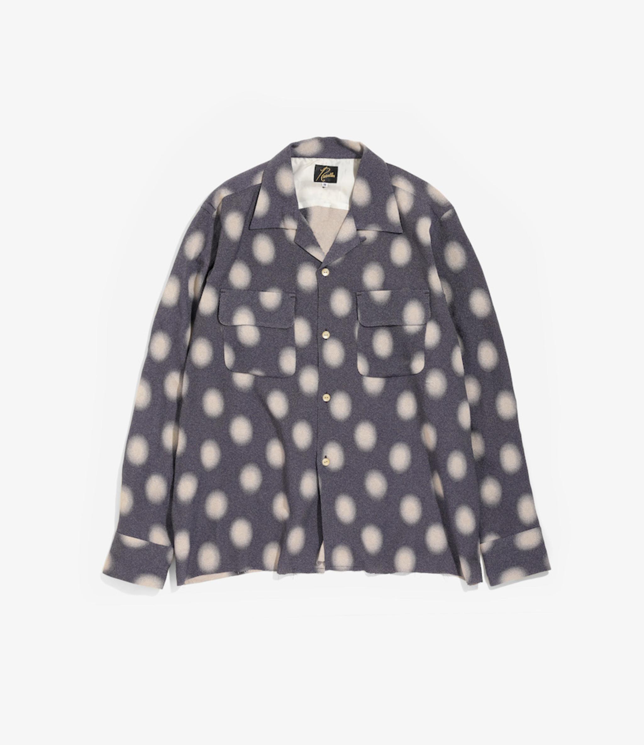 Needles Cut-Off Bottom Classic Shirt - Ac/Cu Jacquard / Polka Dot - Purple