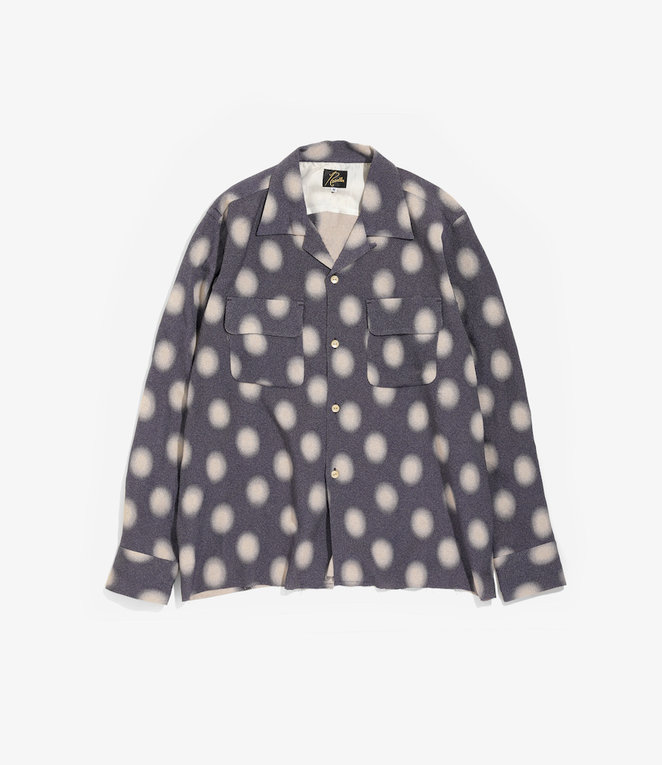 Needles Cut-Off Bottom Classic Shirt - Ac/Cu Jacquard / Polka Dot - Purple