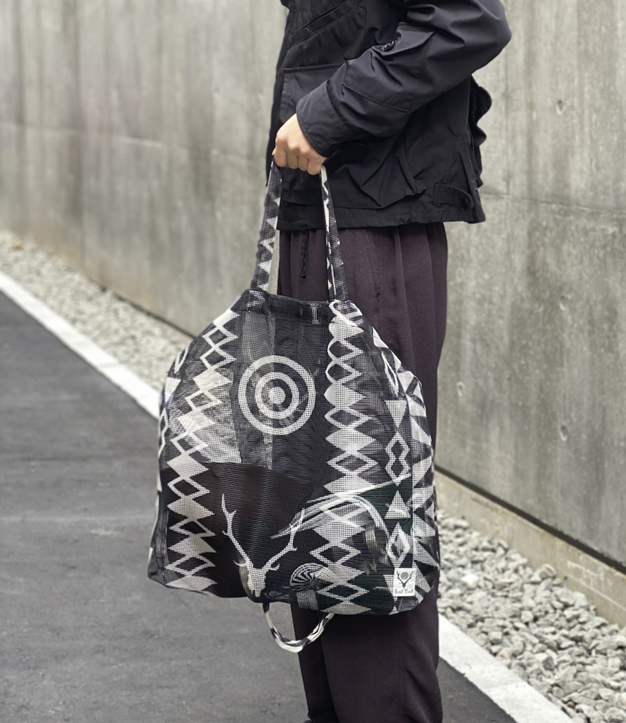 South2 West8 Grocery Bag - Poly Heavyweight Mesh / Print - Skull&Target