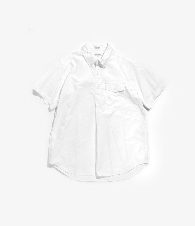 Engineered Garments Popover BD Shirt - White Cotton Oxford