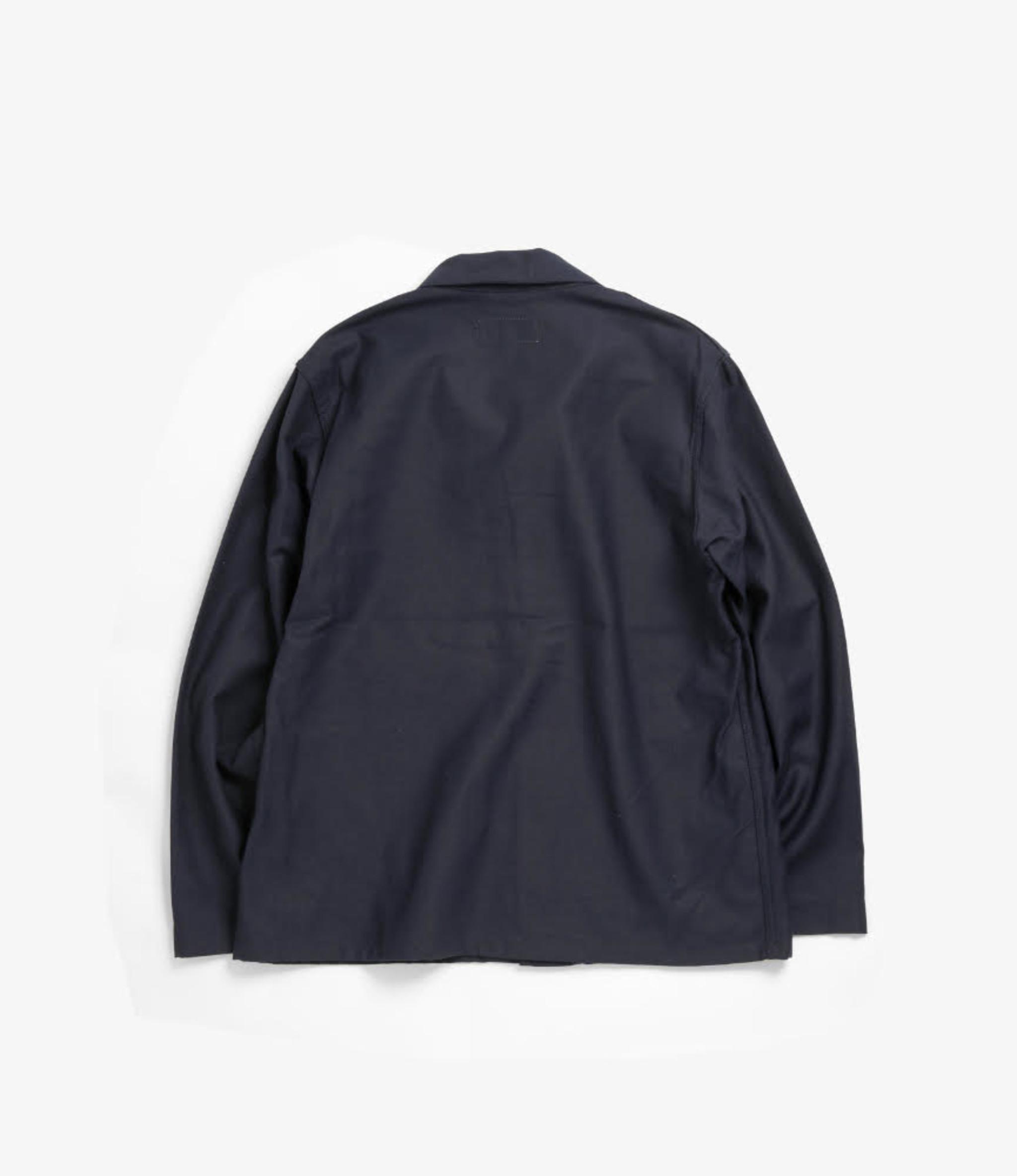 Workaday by Engineered Garments Utility Jacket - Dark Navy Cotton Reversed Sateen