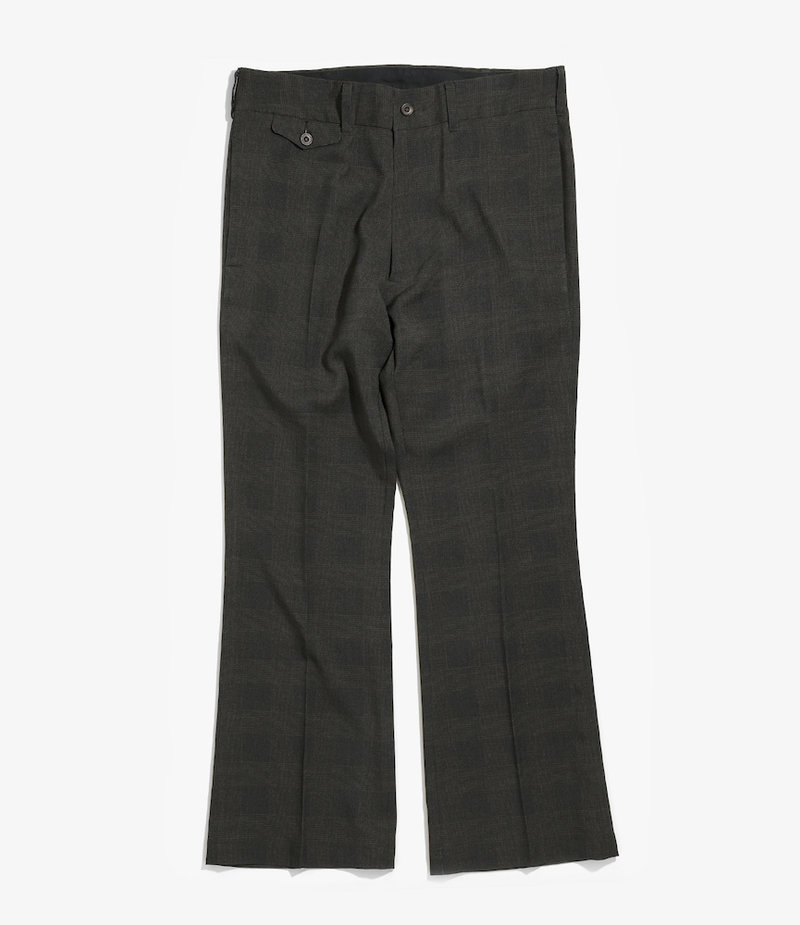 Needles Flap Pocket Boot-Cut Trouser - Tropical Poly Cloth - Charcoal/Plaid