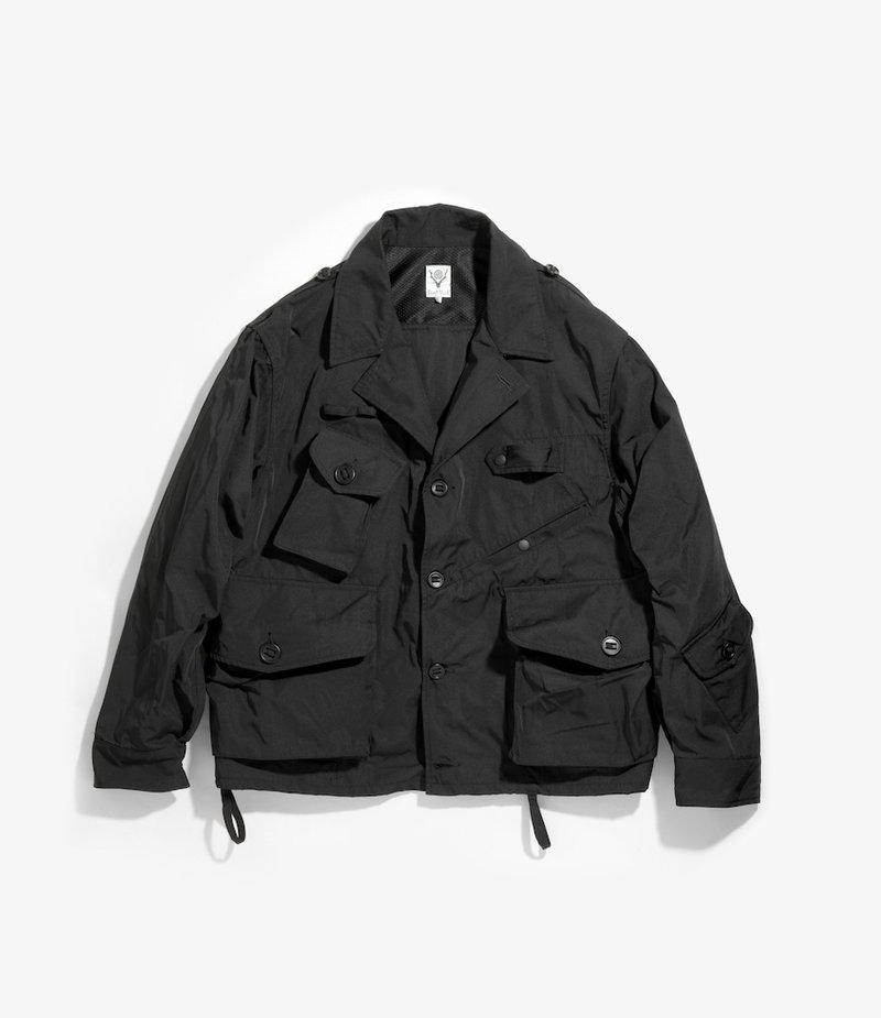 South2 West8 Tenkara Shirt - Poly Gabardine - Black