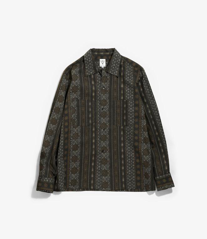 South2 West8 One-up Shirt - C/L Cloth / Arabesque - Black