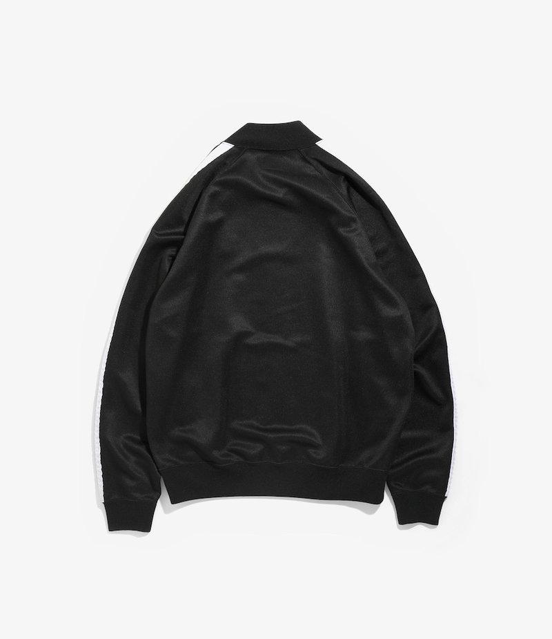 Needles Side Line Rib Collar Jacket - Bright Poly Jersey - Black/White