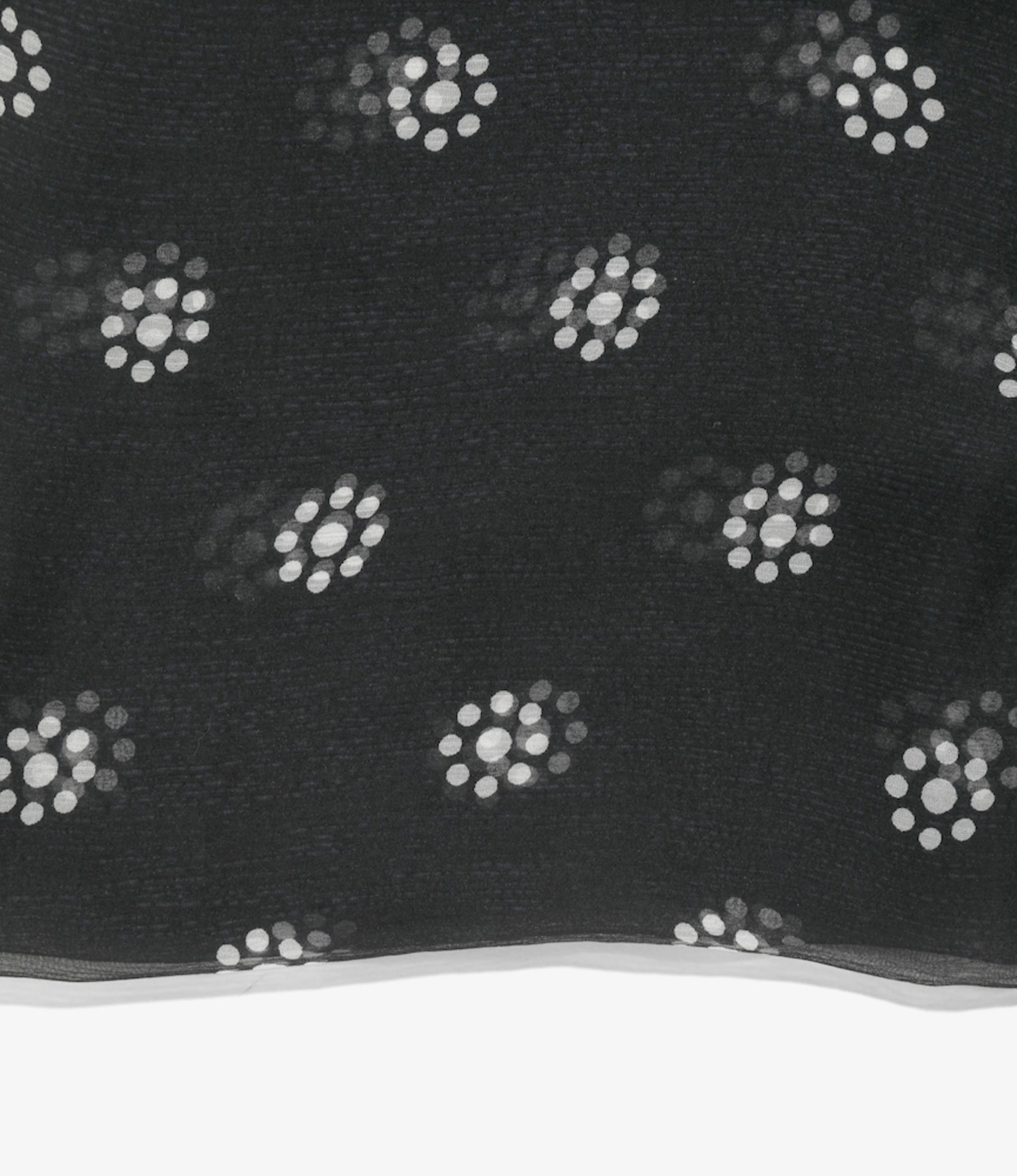 Needles Bandana Scarf - Silk Crepe / Papillon - Charcoal