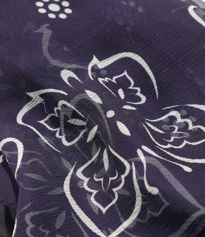 Needles Bandana Scarf - Silk Crepe / Papillon - Purple