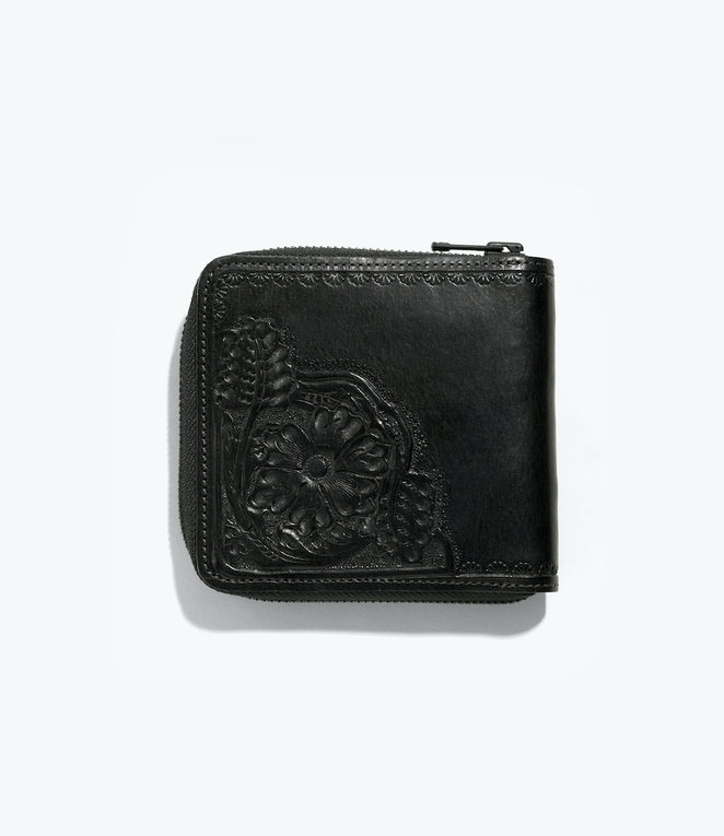 Needles Carving Sigle Wallet - Black