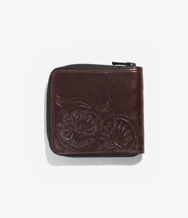 Needles Carving Sigle Wallet - Purple