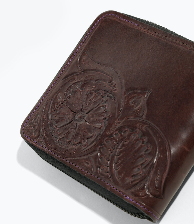 Needles Carving Sigle Wallet - Purple