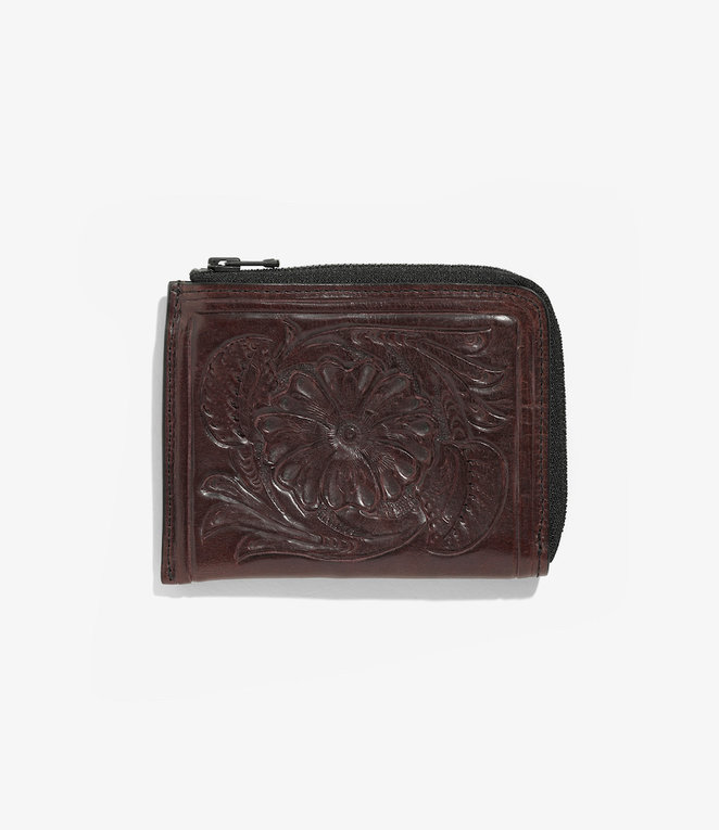 Needles Carving Coin Case - Purple