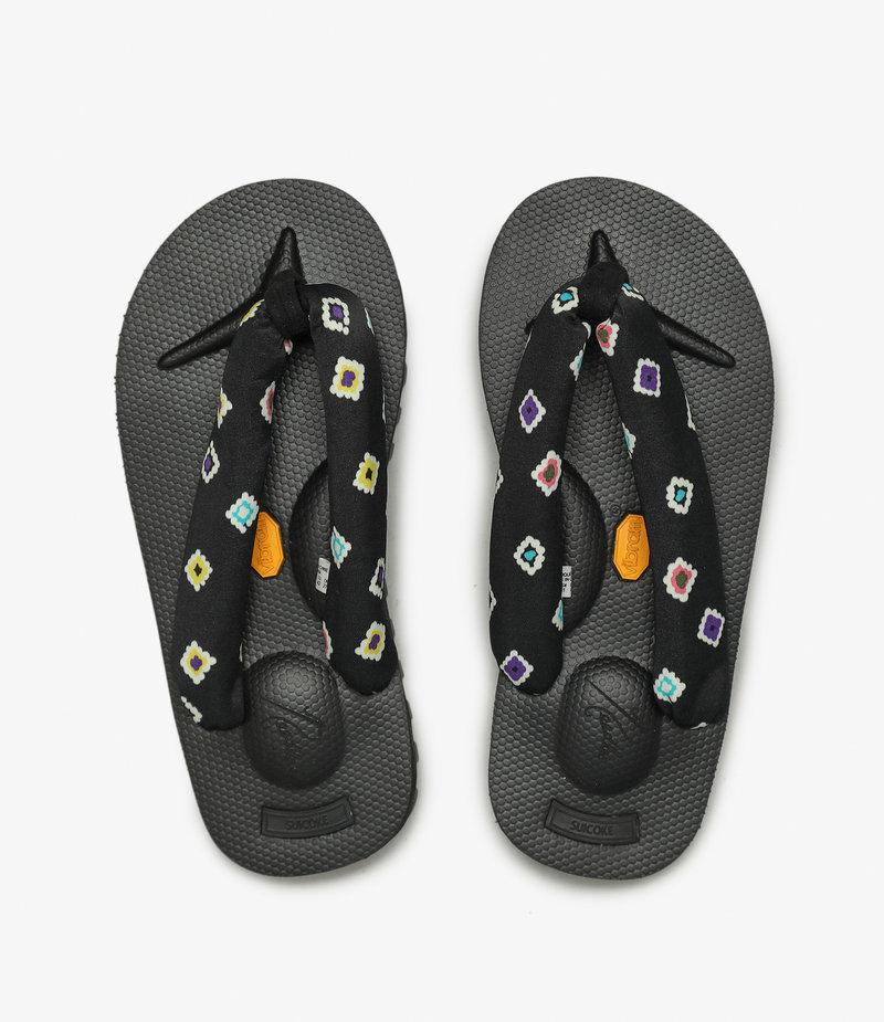 Suicoke Suicoke x Needles - Thong Sandal Vibram Sole - Black / Black