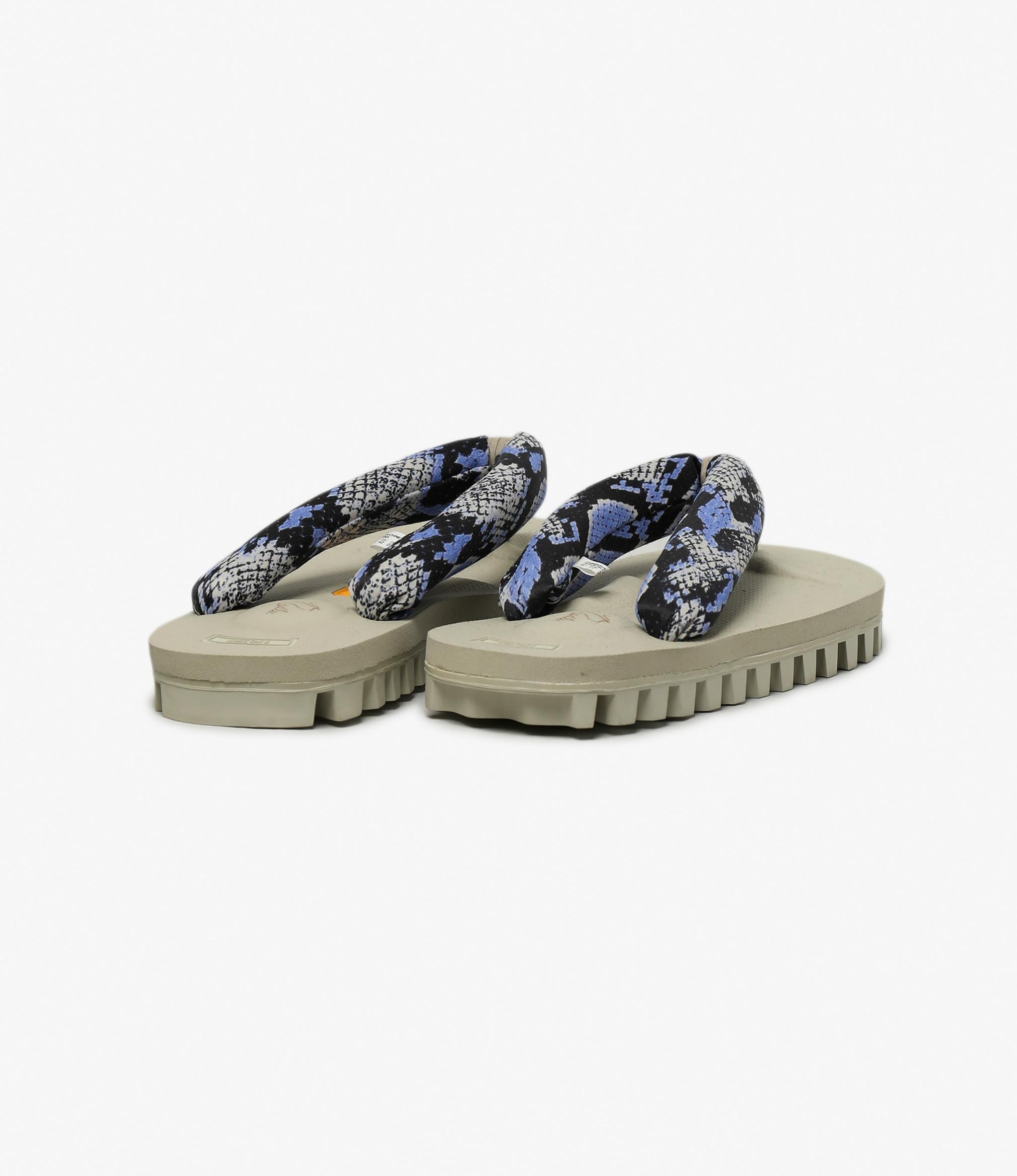 Suicoke Suicoke x Needles  - Thong Sandal Vibram Sole - Python / Black