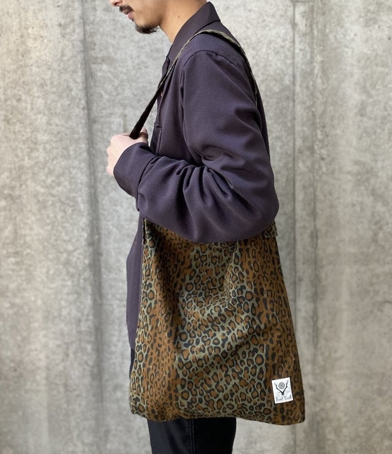 South2 West8 Book Bag - Printed Flannel / Camouflage - Leopard