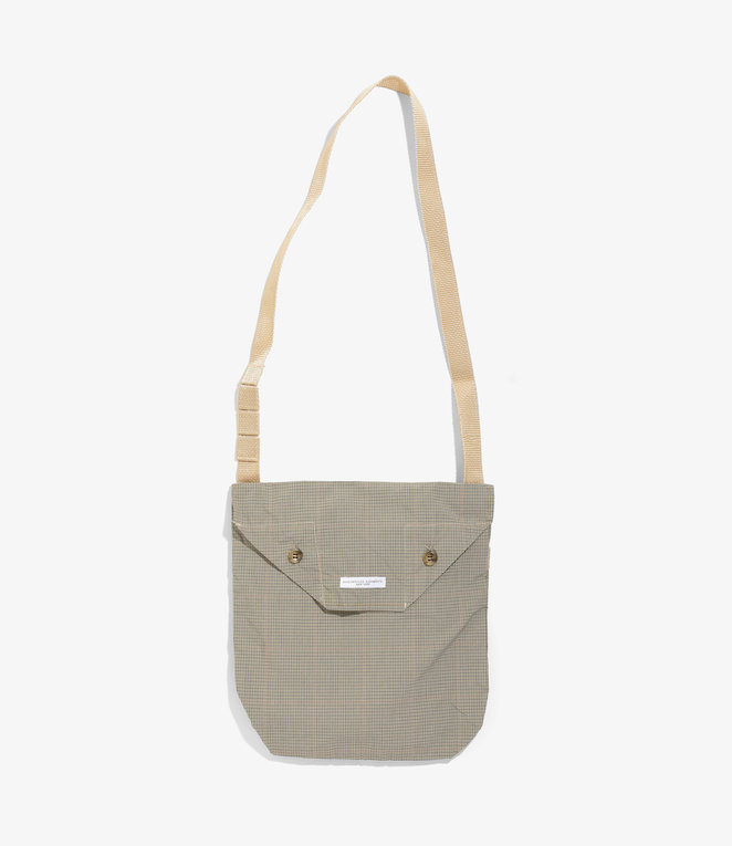 Engineered Garments Shoulder Pouch - Khaki Nyco Mini Tattersall
