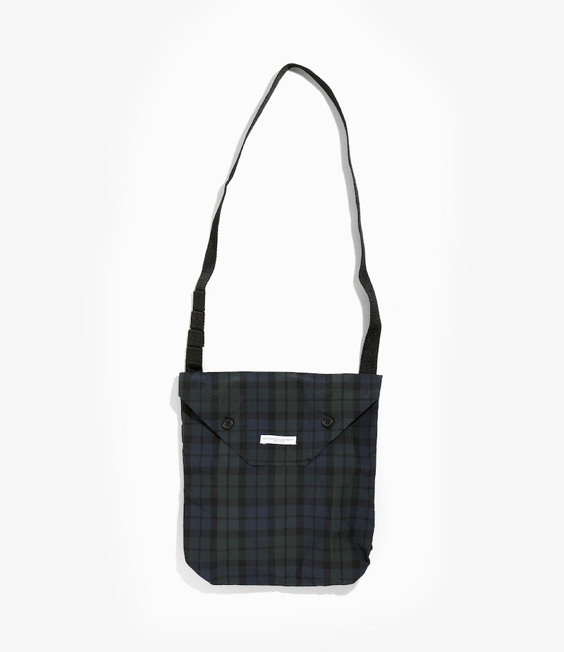 Engineered Garments Shoulder Pouch - Blackwatch Nyco Cloth