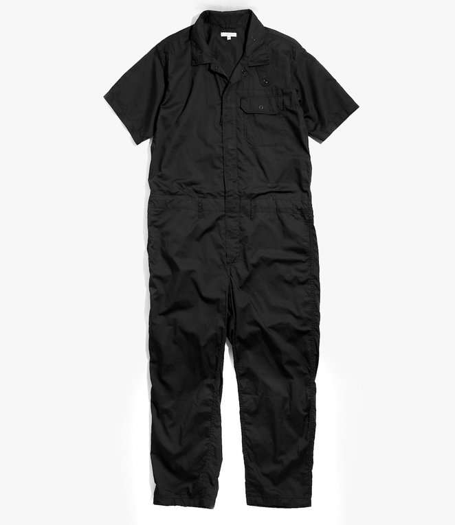 Engineered Garments Combi Suit - Black Cotton Nano Twill