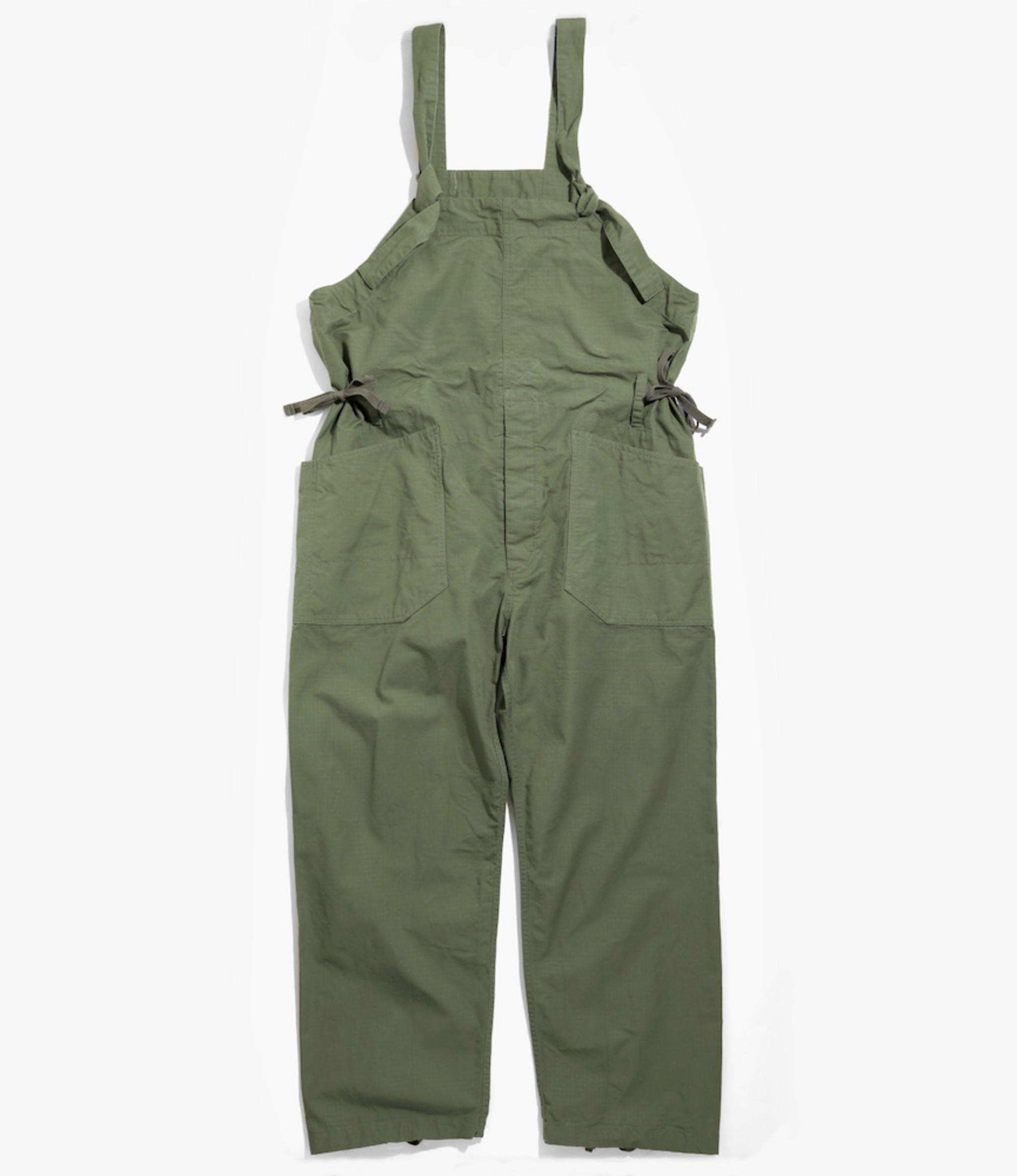 Engineered Garments Overalls - Olive Cotton Ripstop