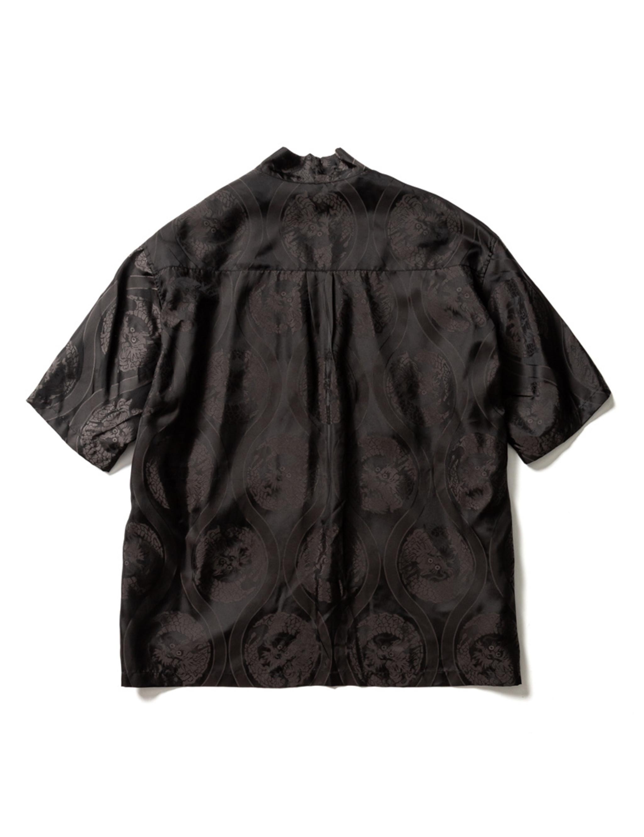 Sasquatchfabrix. ORIENTAL DRAGON HAORI SHIRT - Black