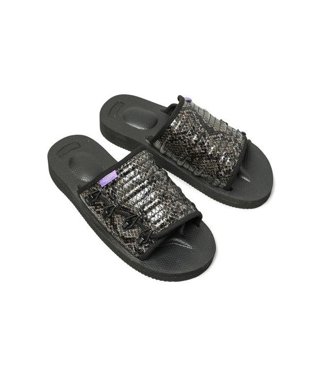 Suicoke Suicoke Purple Label / Elastic Strap Sandal - Vibram - Python Emb - Black