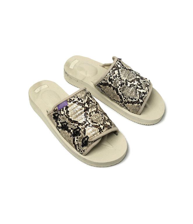 Suicoke Suicoke Purple Label / Elastic Strap Sandal - Vibram - Python Emb - White