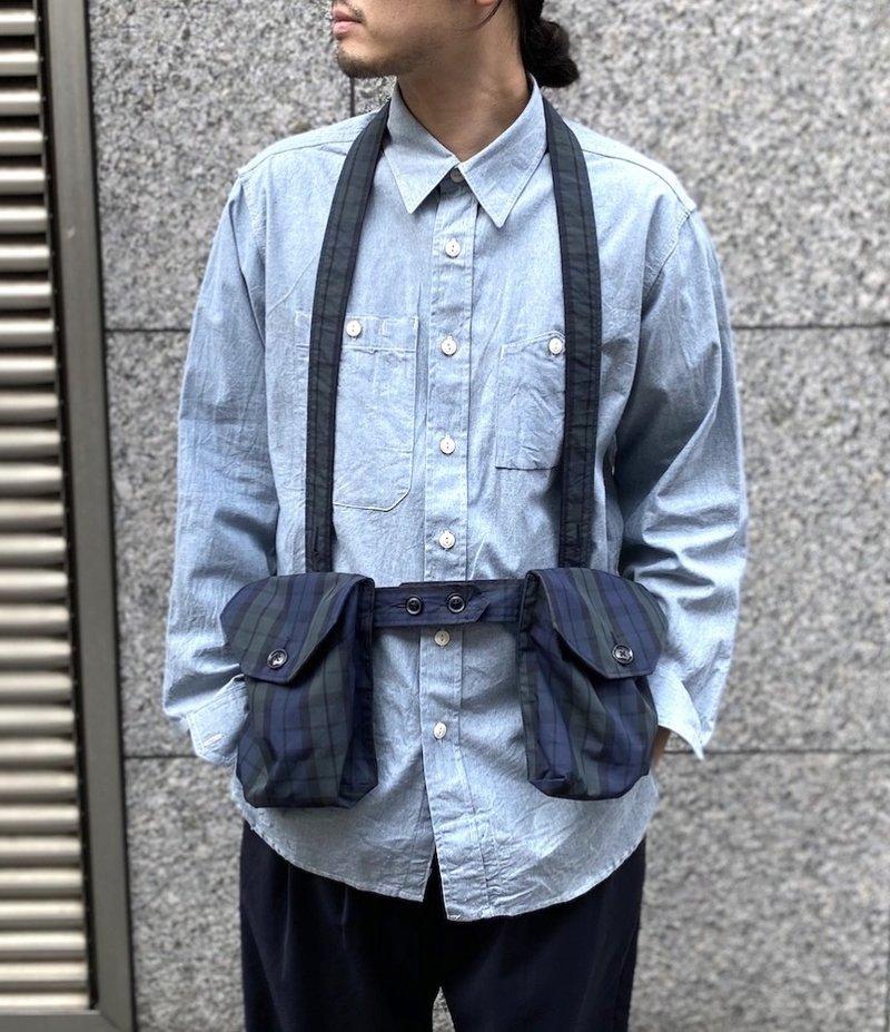 Engineered Garments Waist Bag - Blackwatch Nyco Cloth
