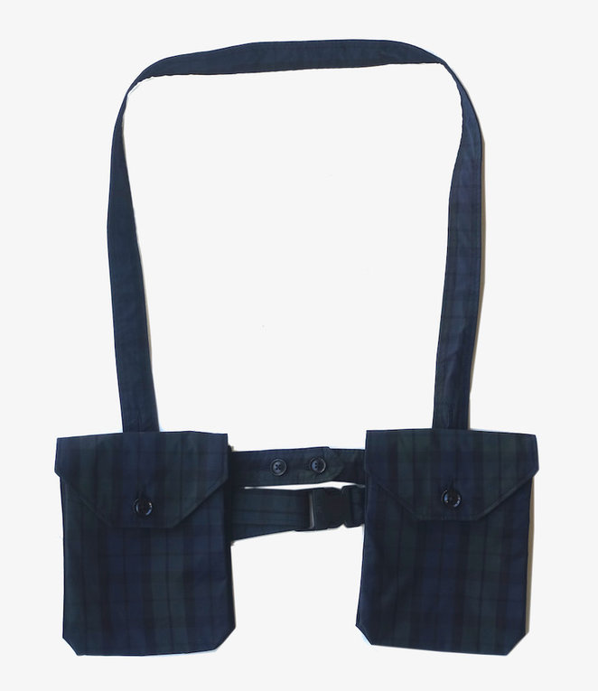 Engineered Garments Waist Bag - Blackwatch Nyco Cloth