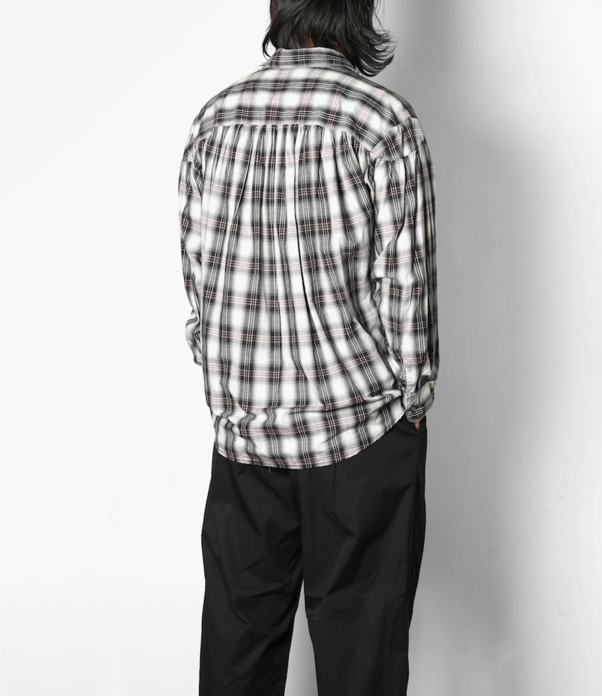 AïE Painter Shirt - Black White Purple Cotton Shadow Plaid