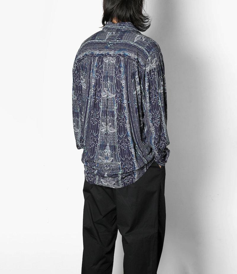 AïE Painter Shirt - Indigo Abstract Print Rayon Lawn
