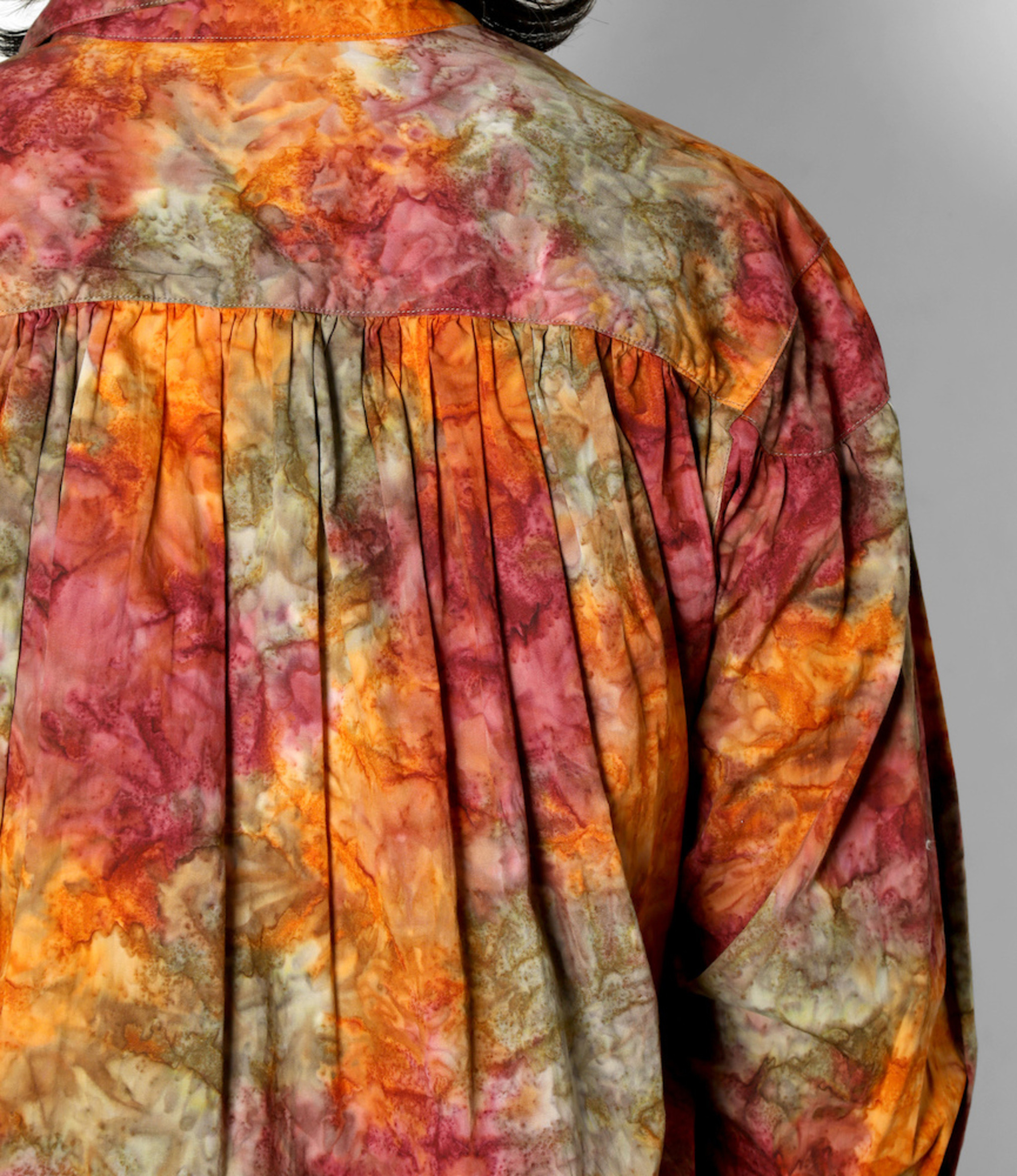 AïE Painter Shirt - Orange Cotton Print Abstract Batik