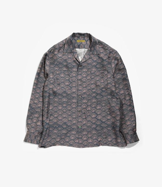 Wang Chomphu Silk LS Shirt / Pokcorpaa Yaw - Siam Wave Pattern