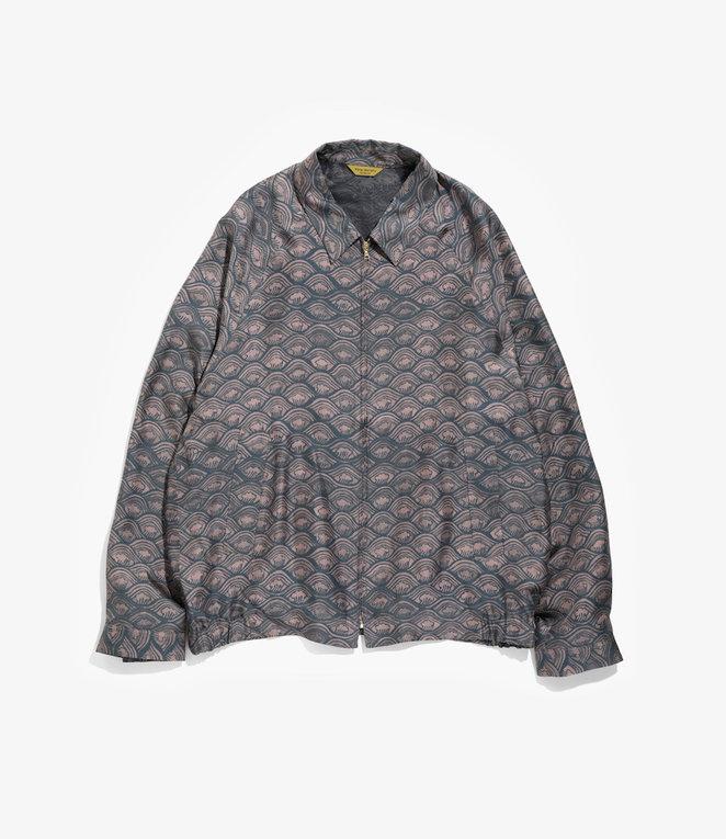 Wang Chomphu Silk Swing Top Jacket / Sure Klum - Siam Wave Pattern
