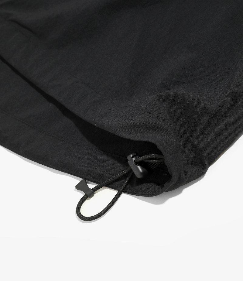 South2 West8 Side Line S/S Zipped Boulder Shirt - N/Pu Elastic Taffeta - Black