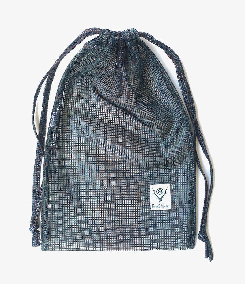 South2 West8 String Bag - Poly Heavyweight Mesh / Print - Leopard